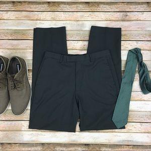 Claiborne Men's Dark Gray Dress Pants
